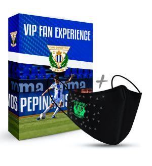 Mascarilla C.D. Leganés Negra + VIP Fan Experience